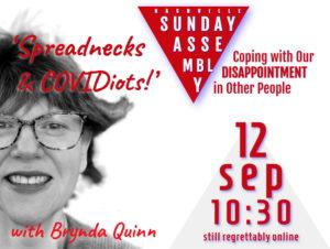 SAN september 2021 - Brynda Qinn on Covidiots